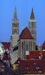 Die St. Jakobskirche in Rothenburg